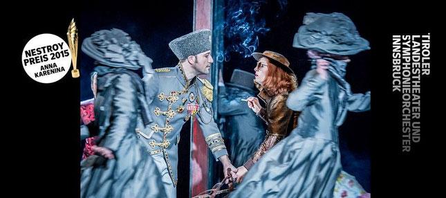 Anna Karenina - Tiroler Landestheater Innsbruck, Regie: Susanne Schmelcher, Foto: Larl