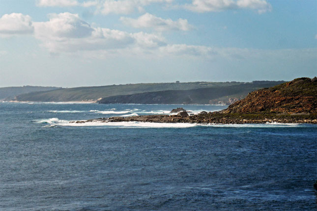 The coast looking north across Cowaramup Bay
