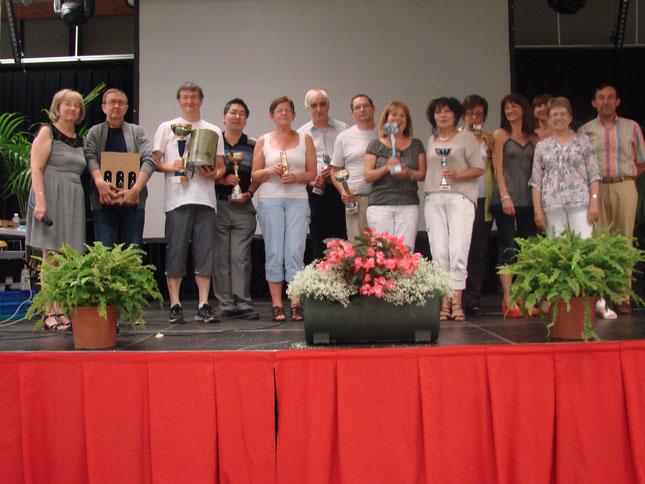 Les vainqueurs 2014, les élus de Pierrelatte et les organisateurs