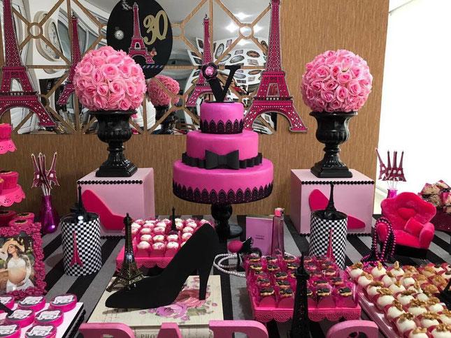 mesa de dulces fiesta paris