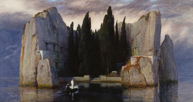 """Arnold Böcklin, """"L'Isola dei Morti"""" (terza versione)  (1883)"""