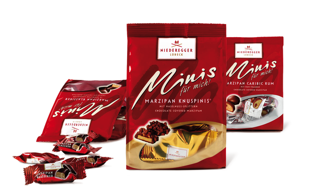 NIEDEREGGER - Minis - Standboden - Beutel - Marzipan - Design - Entwicklung - Packaging - DesignKis - Syndicate - 2006 - Verpackung