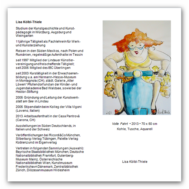 Lisa Kölbl-Thiele vom 3. November 2013 bis 31. Januar 2014