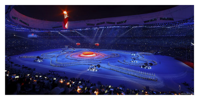 olympic games closing ceremony, beijing.CN // photo and copyright by manfred h. vogel / mhvogel.de
