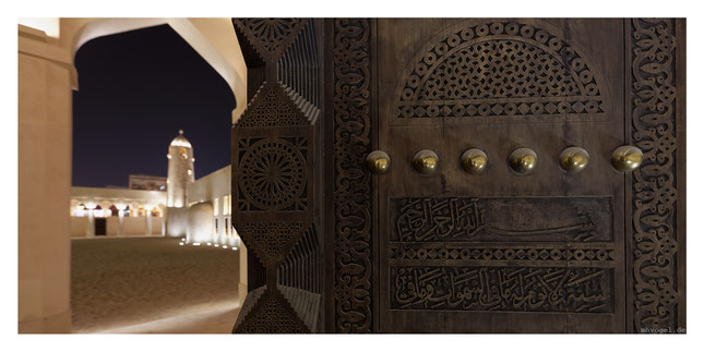 domes mosque, illuminated by thomas emde, doha.QA // photo and copyright by manfred h. vogel / mhvogel.de