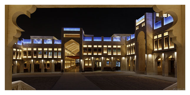 the falcon market, illuminated by thomas emde, doha.QA // photo and copyright by manfred h. vogel / mhvogel.de