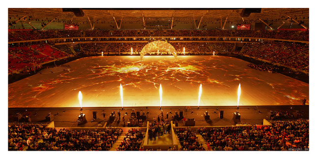 mediterranean games opening ceremony // photo and copyright by manfred h. vogel / mhvogel.de