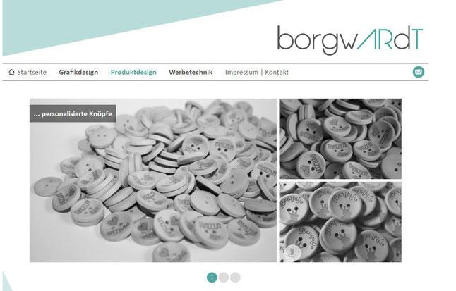 Franziska Borgwardt, Benitaljo, Rostock, Bremervörde, Plönjeshausen, Knöpfe, Knöpfe mit Logo, Logo, Mediendesign
