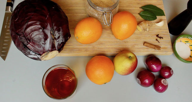 Rotkraut-Blaukraut Rezept
