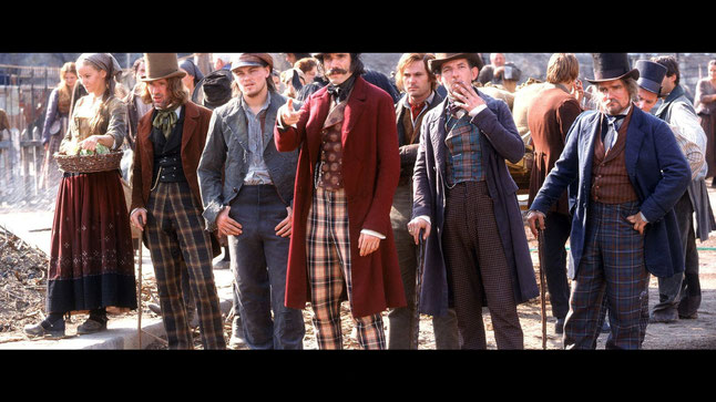 Cast / Engrouped / Assembly / Movie Set / Plaid Pattern / Leonardo Di Caprio & Daniel Day-Lewis