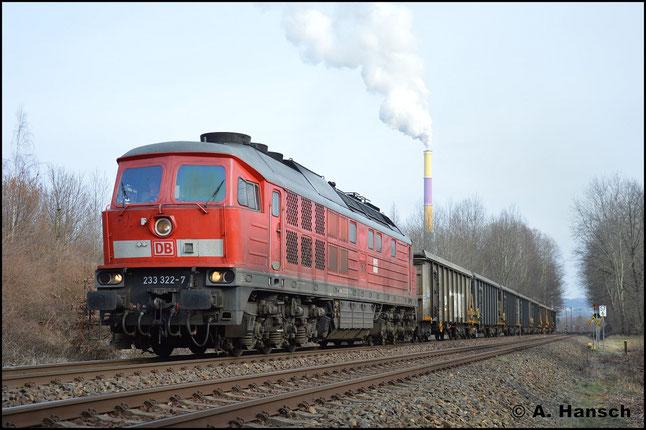 Selbige Wagen bringt die Lok 5 Tage später voll wieder nach Großkorbetha. In Chemnitz-Borna erwischte ich die Fuhre