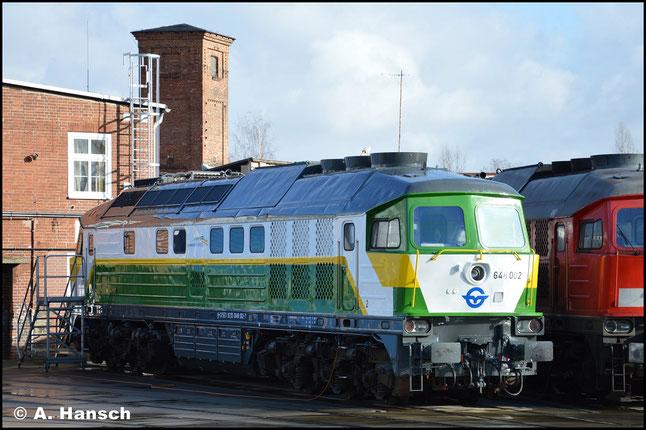 Ist sie das wirklich? Ja! Am 12. Februar 2019 verweilt die Lok im Werk Cottbus. Als 648 002-7 wird die Lok zukünftig beim Unternehmen Gysev Cargo in Ungarn ihre Arbeit verrichten