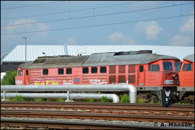 233 289-8 steht am 4. Juni 2018 am AW Chemnitz zum Abtransport bereit. Vermutlich soll sie nach Ungarn gehen