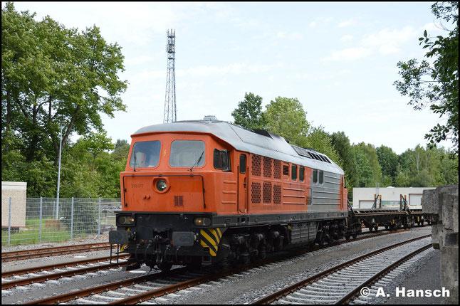 230 077-0 ist die einzige noch im Plandienst stehende BR 230. Am 31. August 2017 konnte ich sie bei DB Energie in Chemnitz-Hilbersdorf verewigen