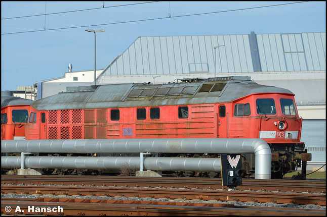 233 043-9 war im SSM Chemnitz z-gestellt. Am 15. März 2020 steht die Lok zum Abtransport gen Polen bereit
