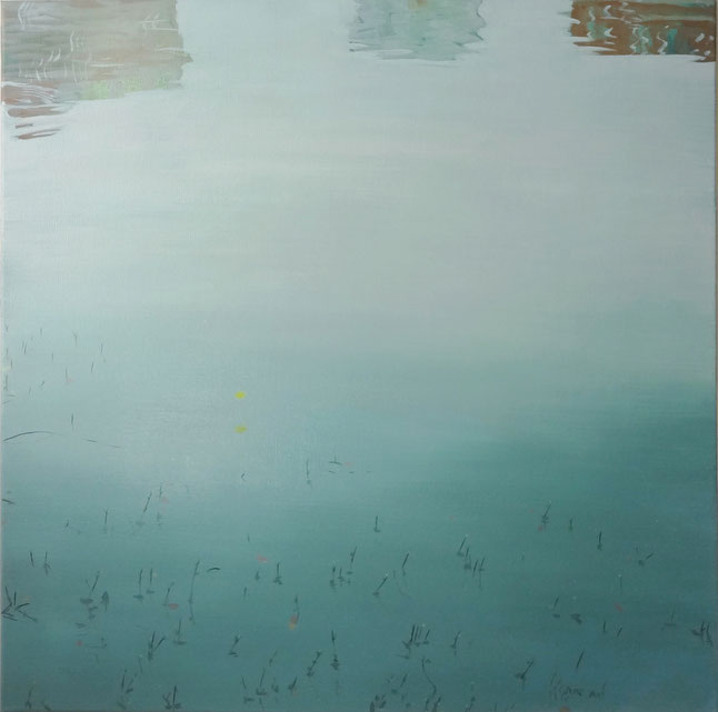 "Wuhu 02, oil on Canvas, 30""x30""/蕪湖02,布面油畫,76x76cm, 2013"