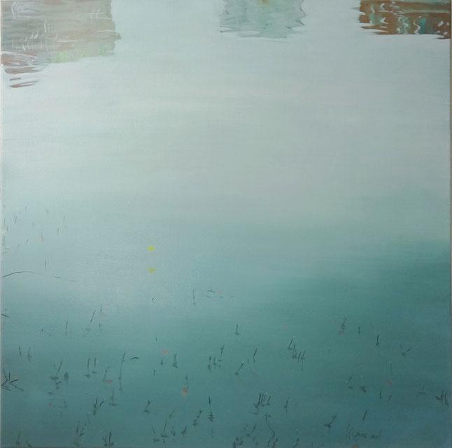 "Wuhu 02, oil on Canvas, 30""x30""/蕪湖02,布面油畫,76x76cm, 2013"