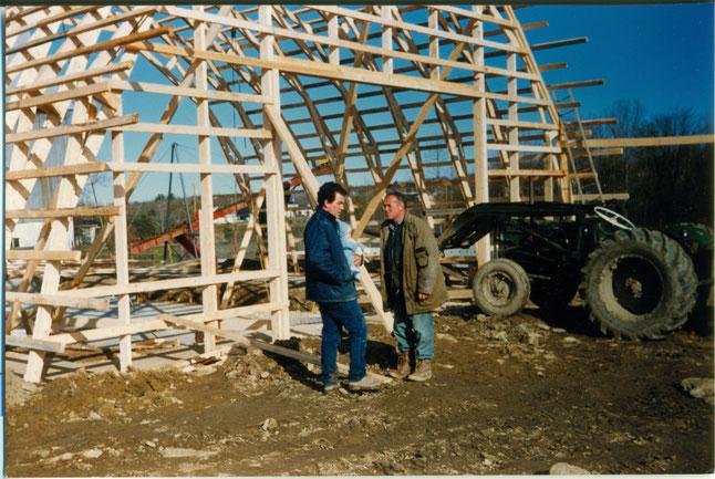 Roch Bibeau et Pierre Bibeau en 1991.