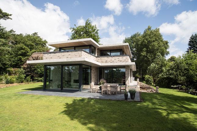 Villa Massivhaus Jesteburg Ansicht Süd