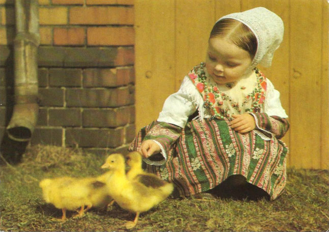 Sorbisches Mädchen Postkarte