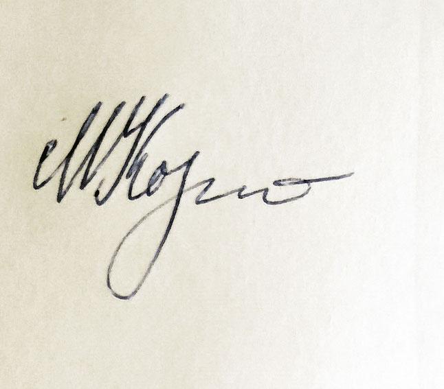 Autograph Mikhail Kornienko Autogramm