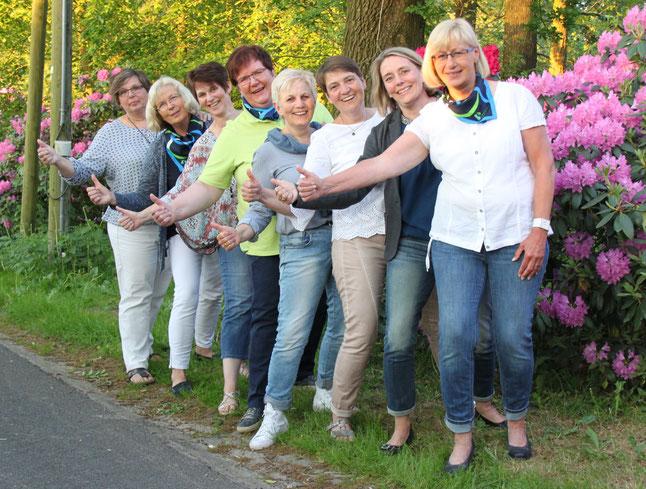 v. li.: Telse Haalck- von Horn, Marlies Mohnssen, Gesche Konnowski, Frauke Kühl, Andrea Tödter, Christine Timm, Ute Langeloh, Karin Ruge, es fehlt Hilke Volkers