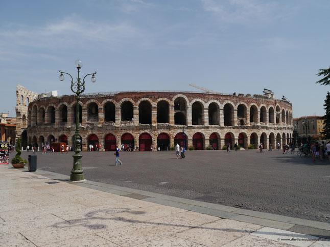 Arena di Verona - historischer Ort großer Schauspiele und Opernaufführungen