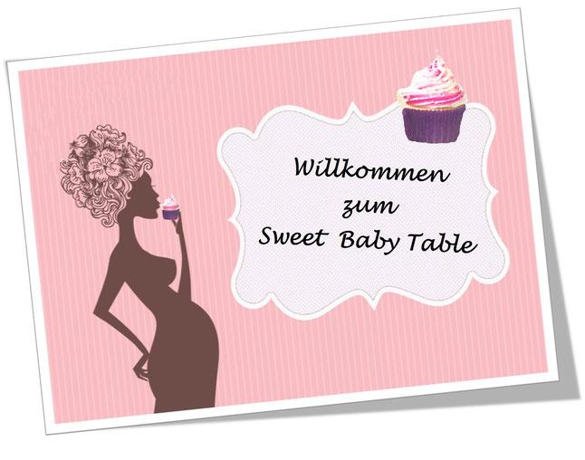 Sweet Baby Table Rosarot für Baby Shower Ein Tisch voller Köstlichkeiten