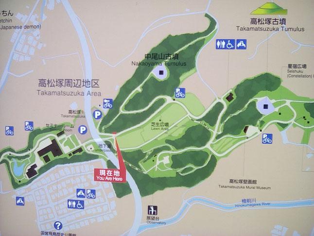 明日香国定公園マップ