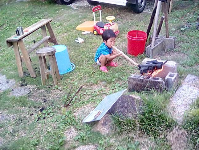 子供 火吹き竹