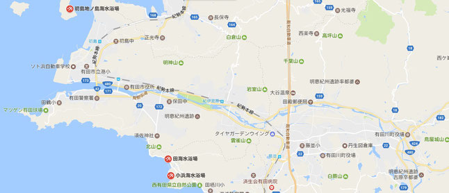 大阪から1時間半で行ける有田市の海水浴場