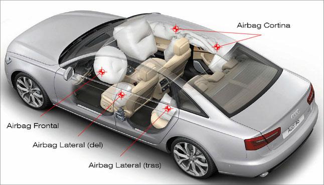 Tipos de airbag que suelen venir de serie en la mayoría de modelos