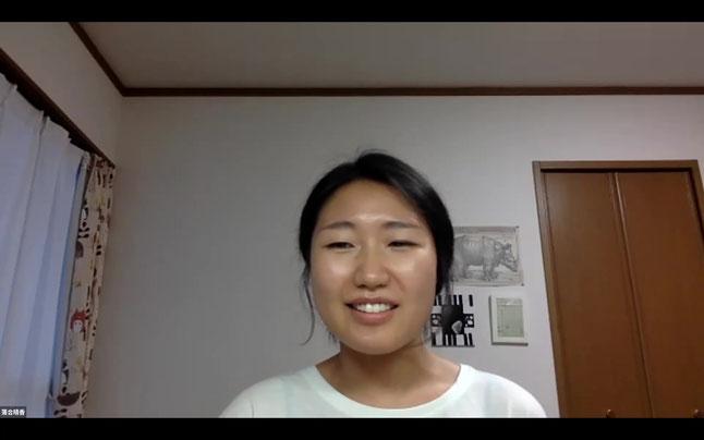 自宅から集会に参加した名古屋訴訟原告の落合晴香さん