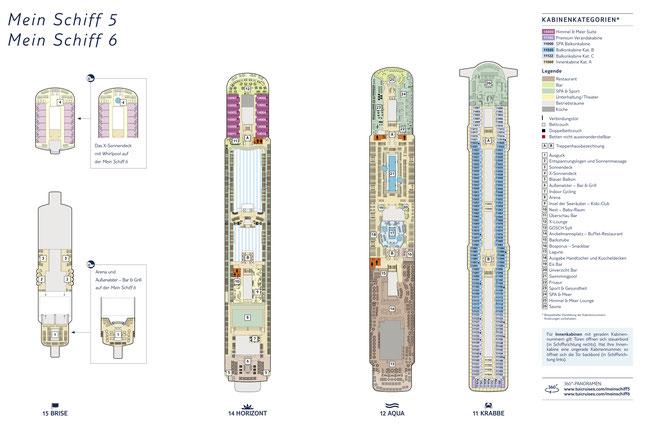 Mein Schiff 5 Decksplan