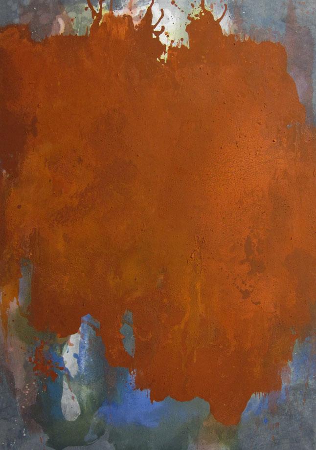 abstraktes Bild · Rot · Blau · Weiss · Leinwand · Patrick Öxler · Wiede Fabrik · Atelier