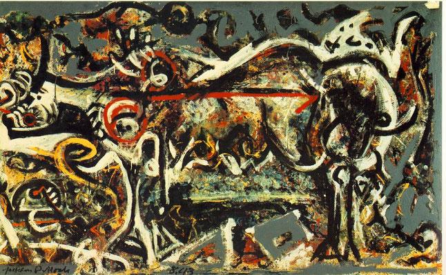 Pintura más surrealista de Jackson Pollock.