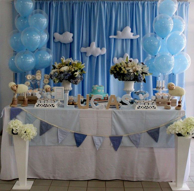 mesa dulces baby shower niño