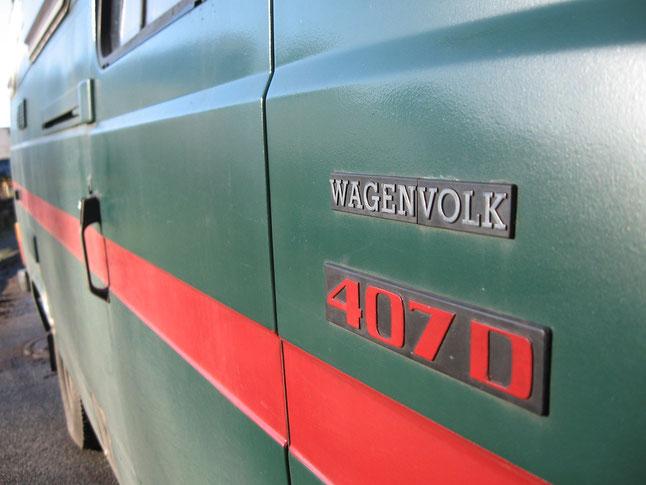 Bild: Oma Duck, Düdo, Mercedes 407, 508, Wohnmobil