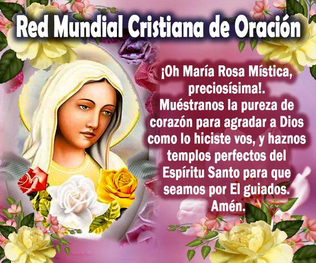 Novena Rosa Mística Y Oraciones Red Mundial Cristiana De Oración