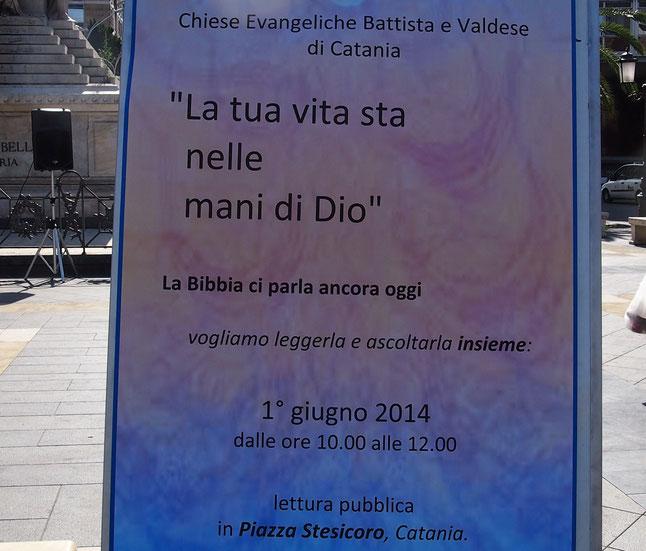 """manifesto in occasione dell'evento """"lettura Bibbia in piazza""""."""