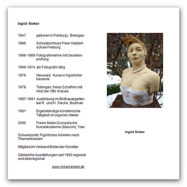 Ingrid Rinker vom 14. März 2015 bis 28. Mai 2015