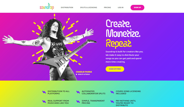 Comparison - Soundrop Review and alternative - Free Music Distribution