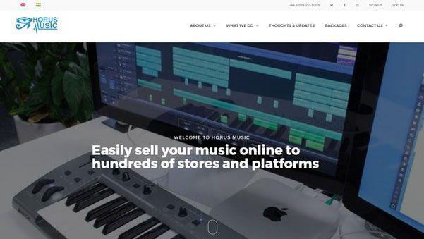 Horus Music UK Review - Sell your music online to stores like Itunes and Beatport