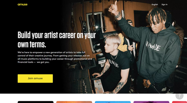 Amuse - The world's first mobile App based record company. Read the comparison