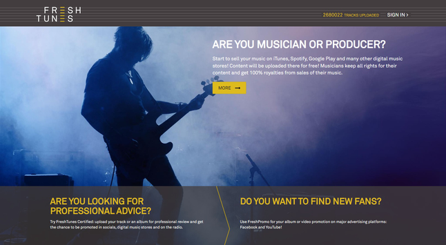 Online comparison: FreshTunes – Sell your music in all the top online stores!