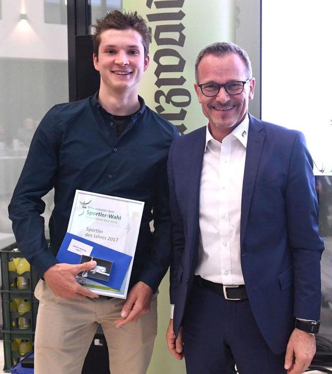 Dominik Sowieja Sportler des Jahres Schwarzwald Baar Kreis