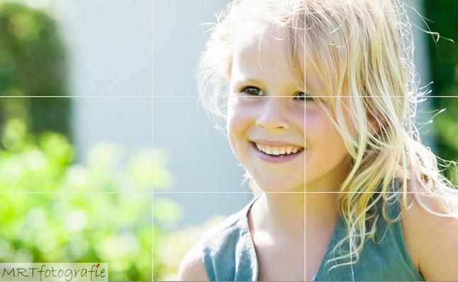 Meisje gefotografeerd volgens de regel van derden