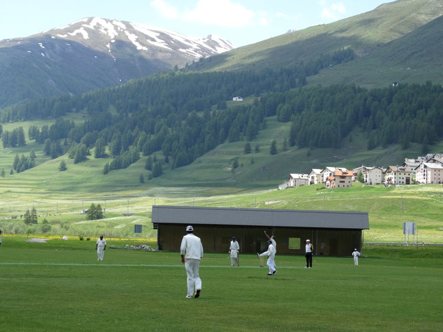 Zuoz, at 1718m, is the highest cricket ground in Europe