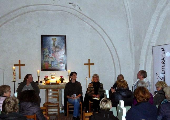 von links: Britta Cordts, Sebastian Pawlick, E. Balsewitsch-Oldach, Marianne Hahn, Siegrid Jungkuhn; Foto: D.-U. Becker