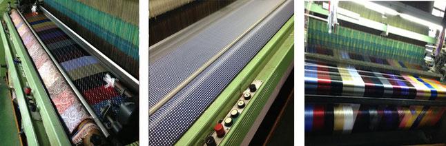 Máquina Jacquard, para la fabricación de tejido jacquard de corbatería artesanal